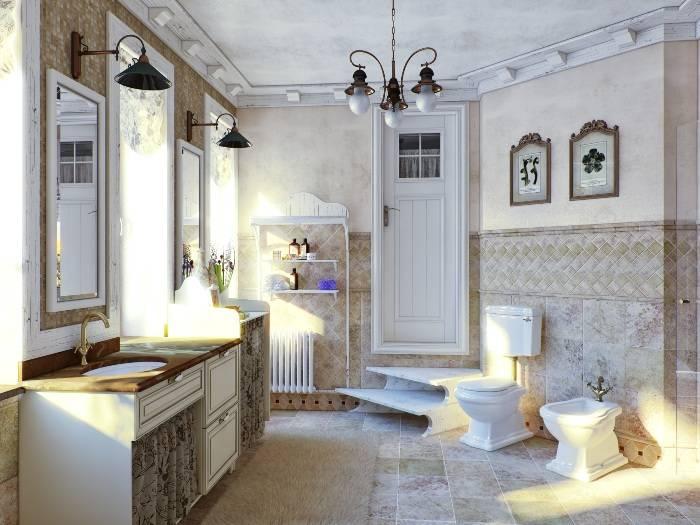 Скандинавский стиль в интерьере ванной комнаты, фото, аксессуары