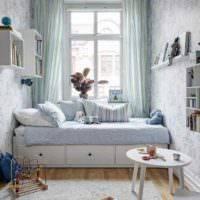 Дизайн маленькой спальни-гостиной (41 фото): идеи интерьера совмещенной комнаты 12 кв. м