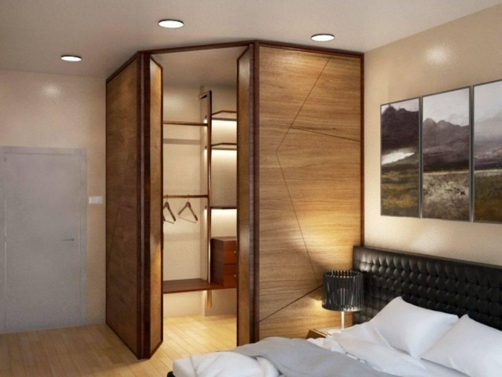 Гардеробная в спальне (78 фото): идеи для дизайна открытой угловой гардеробной, встроенный гардероб в спальной комнате, размеры мини-гардеробных