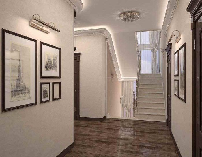 Интерьер прихожей в частном доме: выбираем отделочные материалы, создаем дизайн своими руками