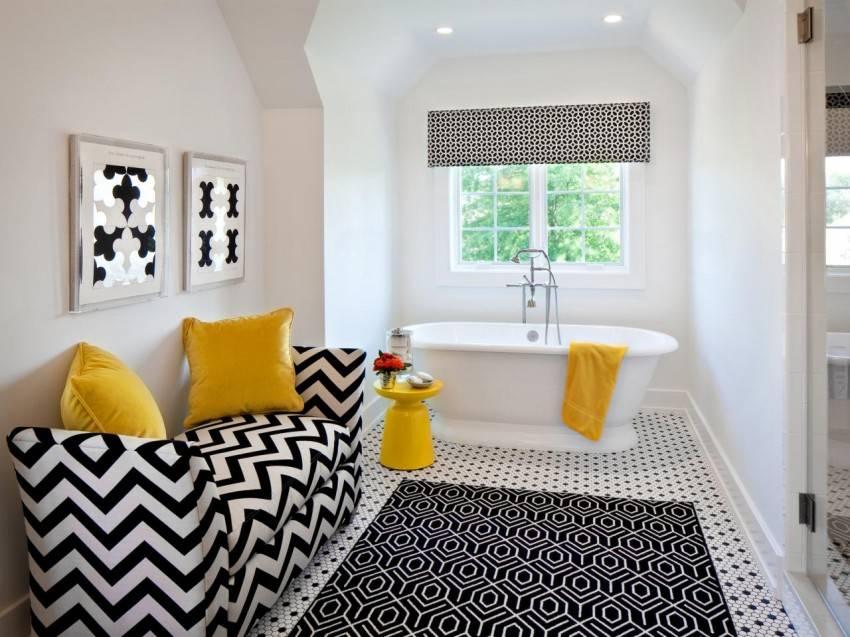 Дизайн ванной комнаты 2021: модная плитка для маленькой ванной - 50 фото