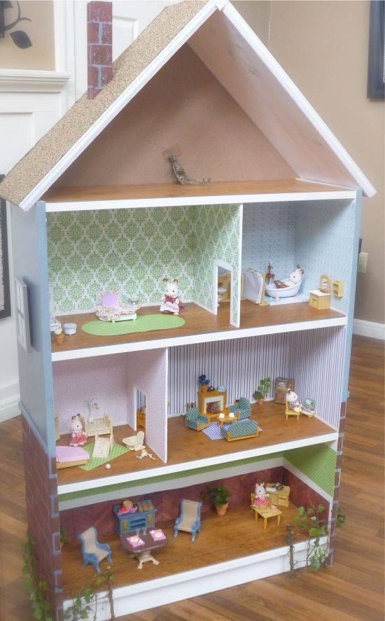 Кукольный домик своими руками из фанеры, коробки, картона, дерева: схема, чертежи с размерами. как сделать кукольный домик для барби, монстр хай?