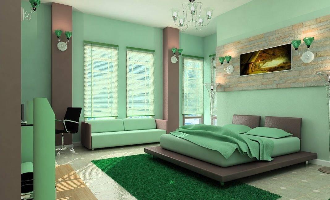 Зеленый цвет в интерьере — фото лучших комбинаций сочетания дизайна