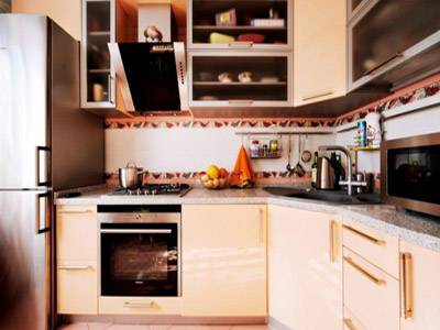 Персиковый цвет в интерьере кухни: фото дизайна, отделка стен, пола и потолка, сочетание, выбор стиля, декора и освещения
