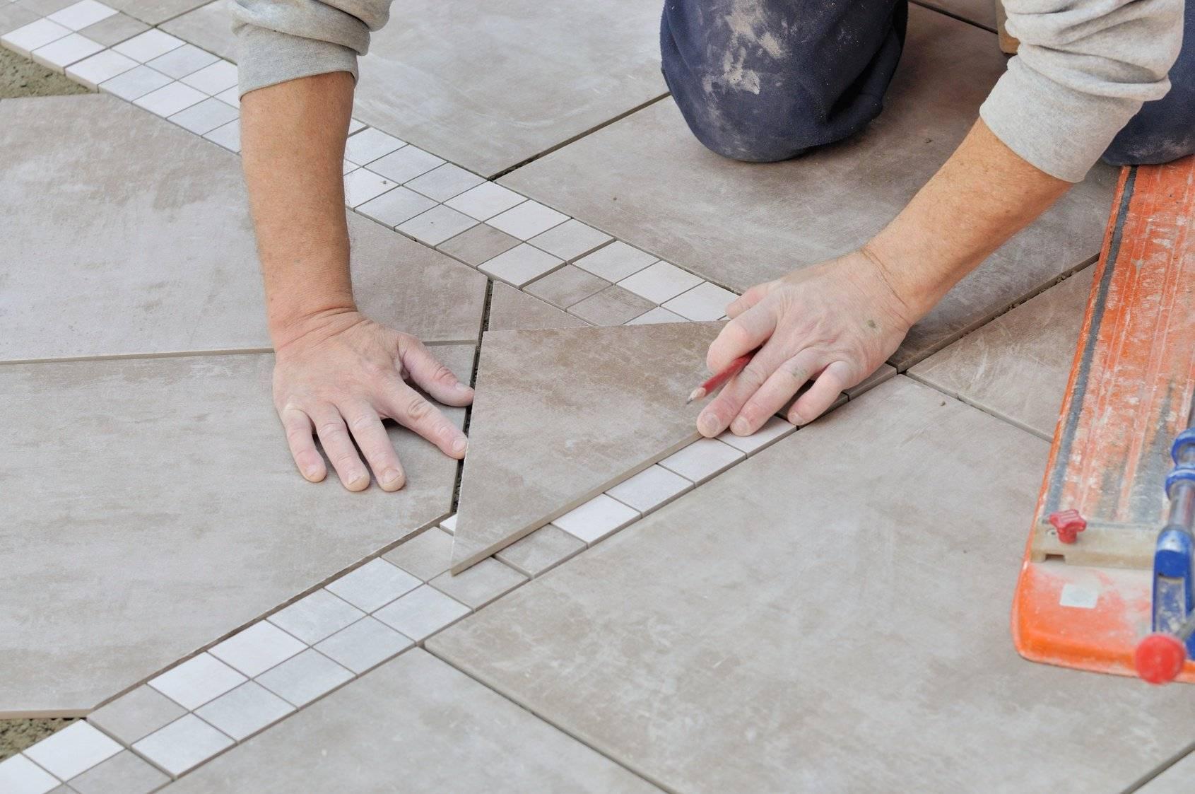 Укладка плитки на пол: тонкости процесса