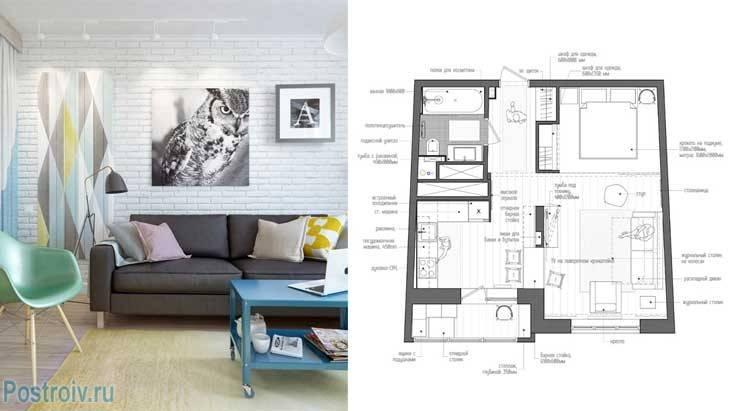 Дизайн интерьера евродвухкомнатной квартиры площадью 40 кв. м (32 фото): планировка и примеры оформления квартиры площадью 40 квадратов