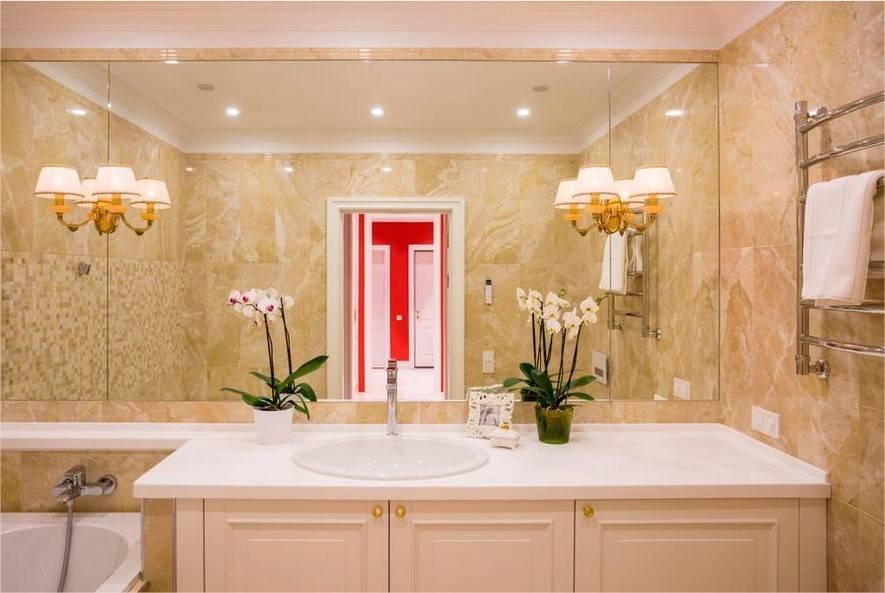 Зеркало над раковиной в ванной комнате - учебник сантехника