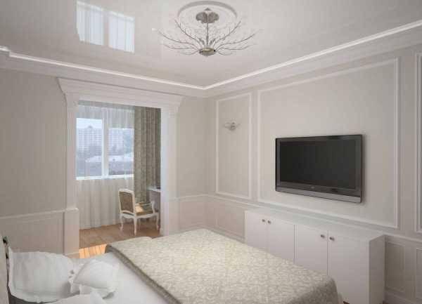 Дизайн спальни 15 кв.м в современном стиле