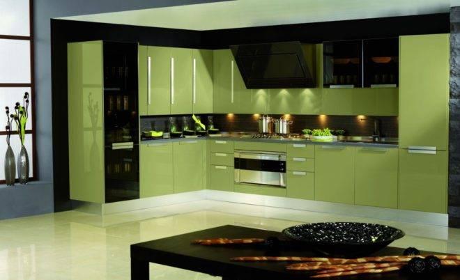 Зеленая кухня (86 фото): коричнево-зеленый и черно-зеленый, темно-зеленый и желто-зеленый, светло-зеленый тона гарнитура в дизайне интерьера