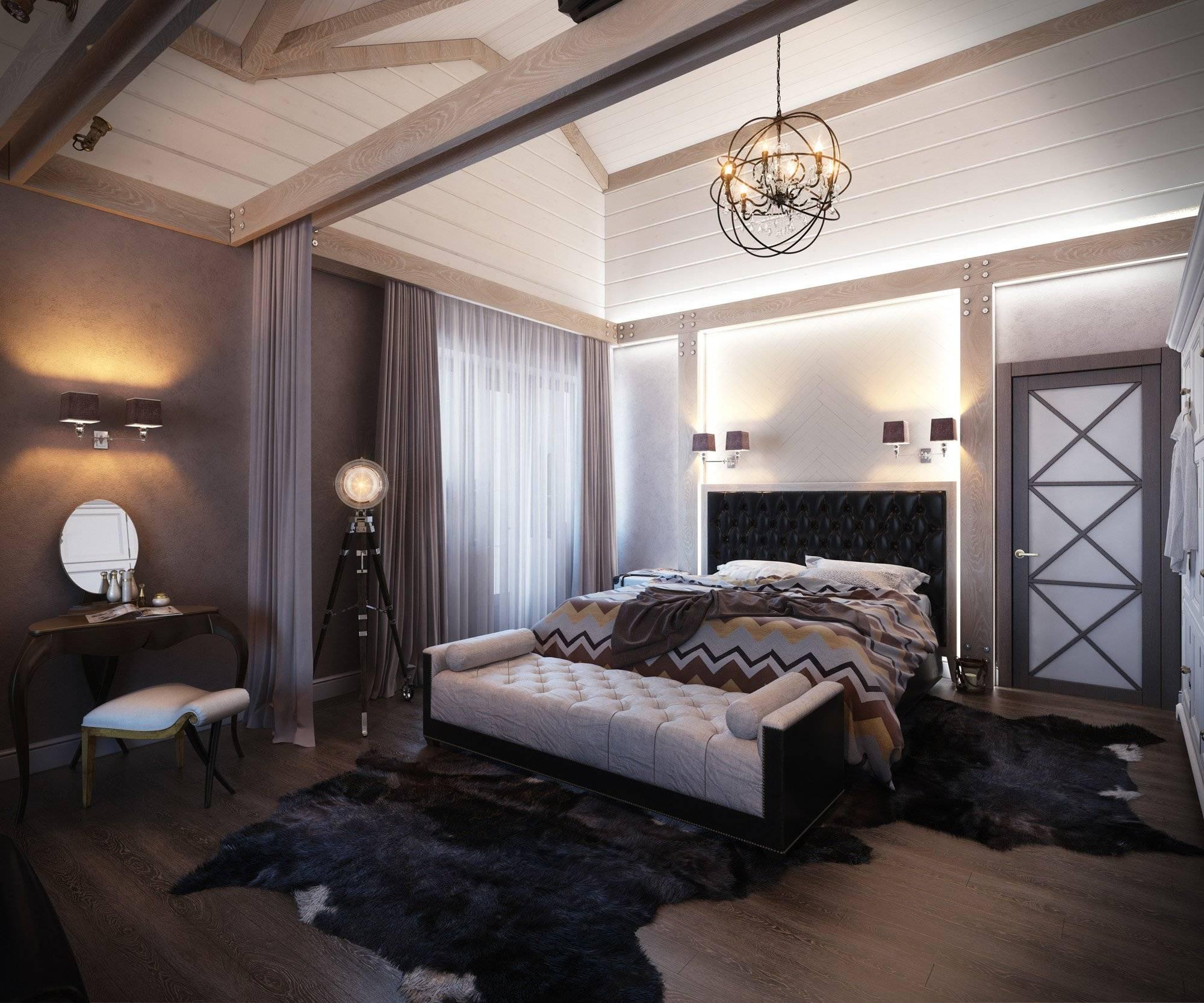 Дизайн прямоугольной спальни 16 кв.м. - 75 вариантов оформления