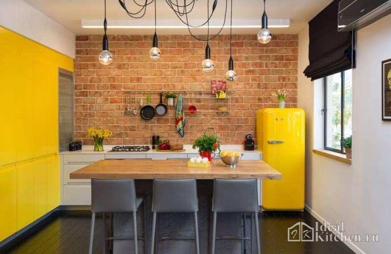 Желто-зеленый цвет в интерьере кухни: сочетания оттенков и тонов