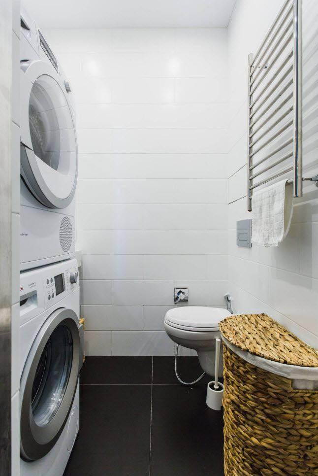 Дизайн ванной комнаты со стиральной машиной +50 фото идей - «интерьер ванной»