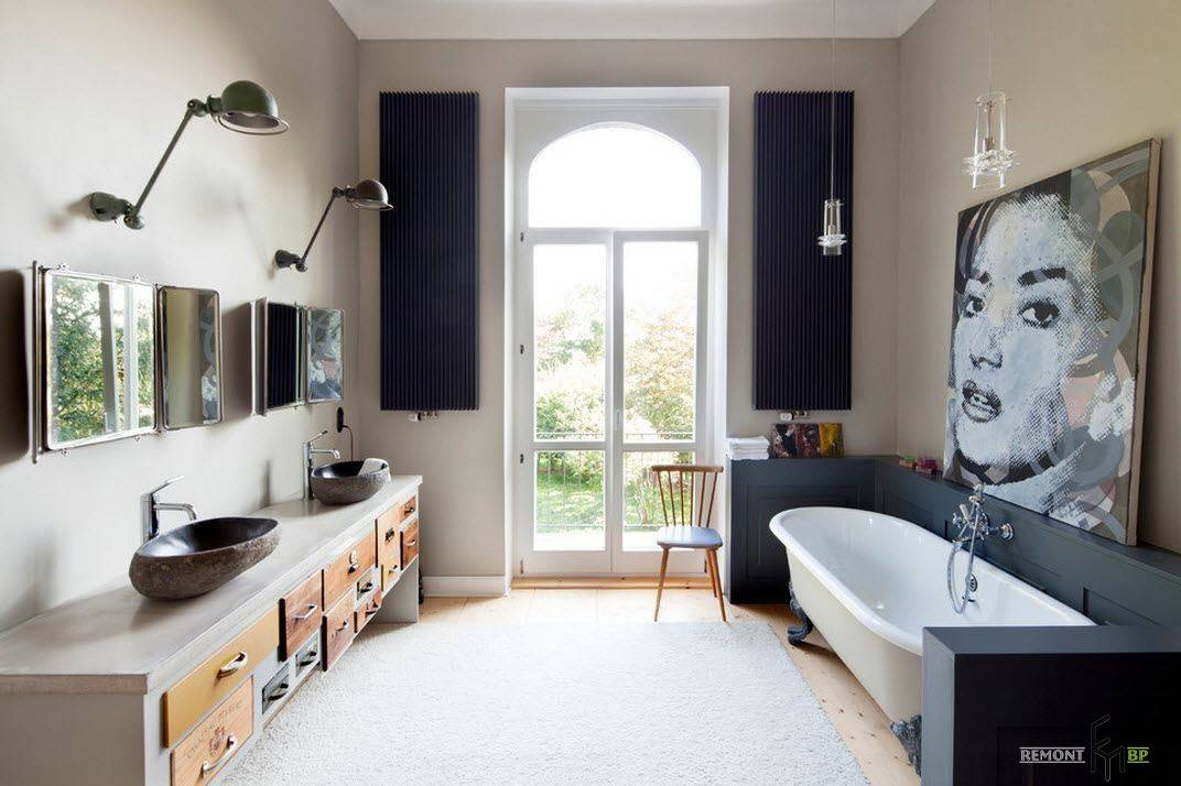 Ванная в стиле лофт - практичные и оригинальные идеи и советы по оформлению ванной комнаты (120 фото)