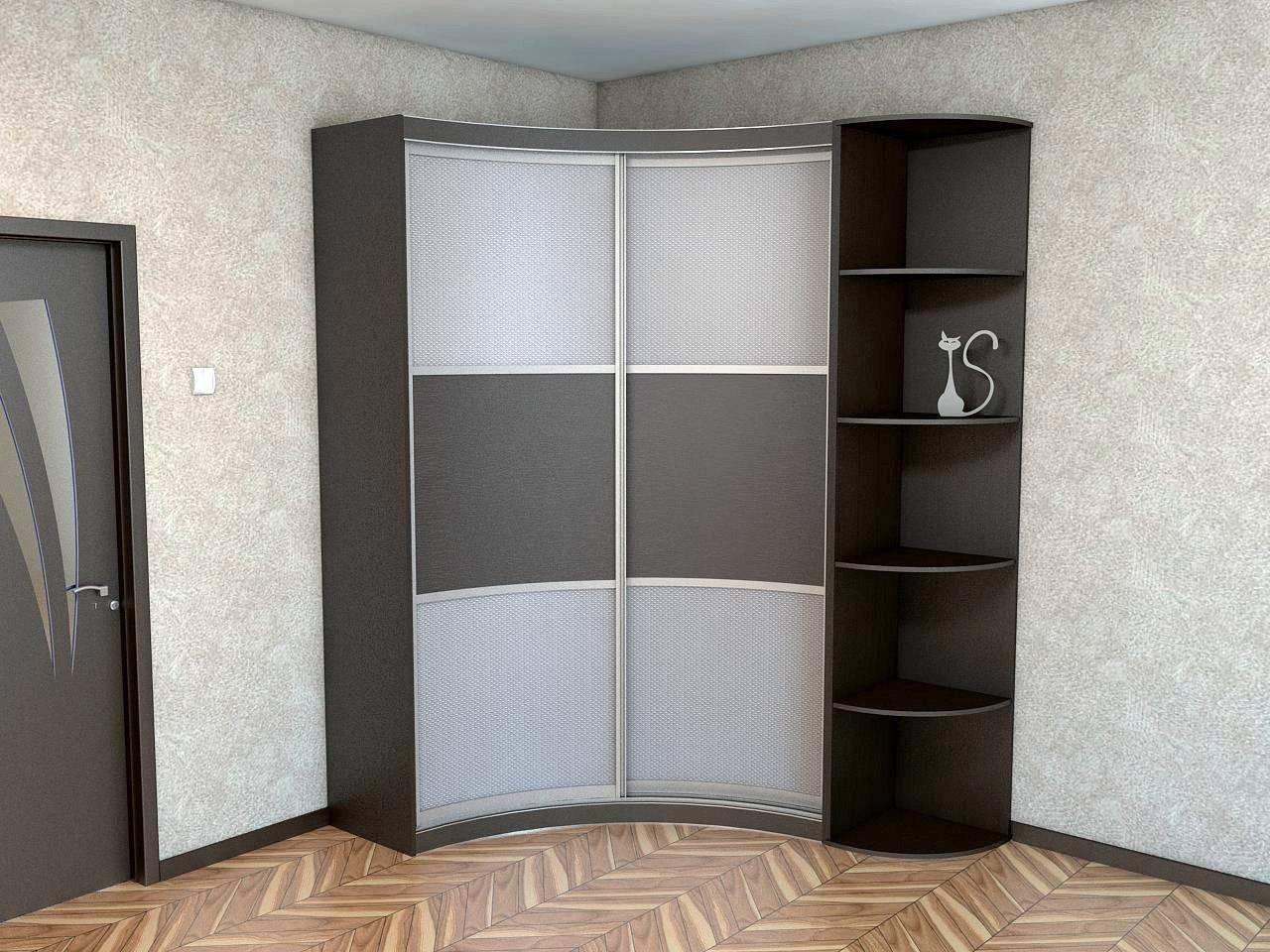 Угловой шкаф в спальню и фото моделей, и разновидности с размерами