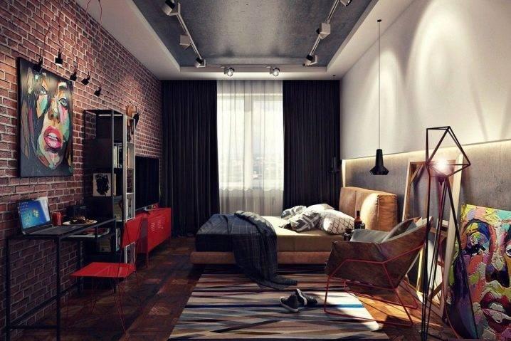 Спальня в стиле лофт: особенности интерьера маленькой комнаты на фото, как сделать мужской, женский или детский дизайн в квартире, подбор мебели, кровати, шкафов