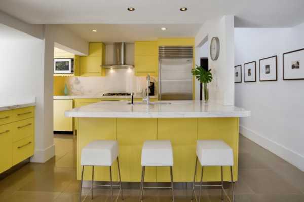 Кухня в желтом цвете – советы и сочетание с другими цветами