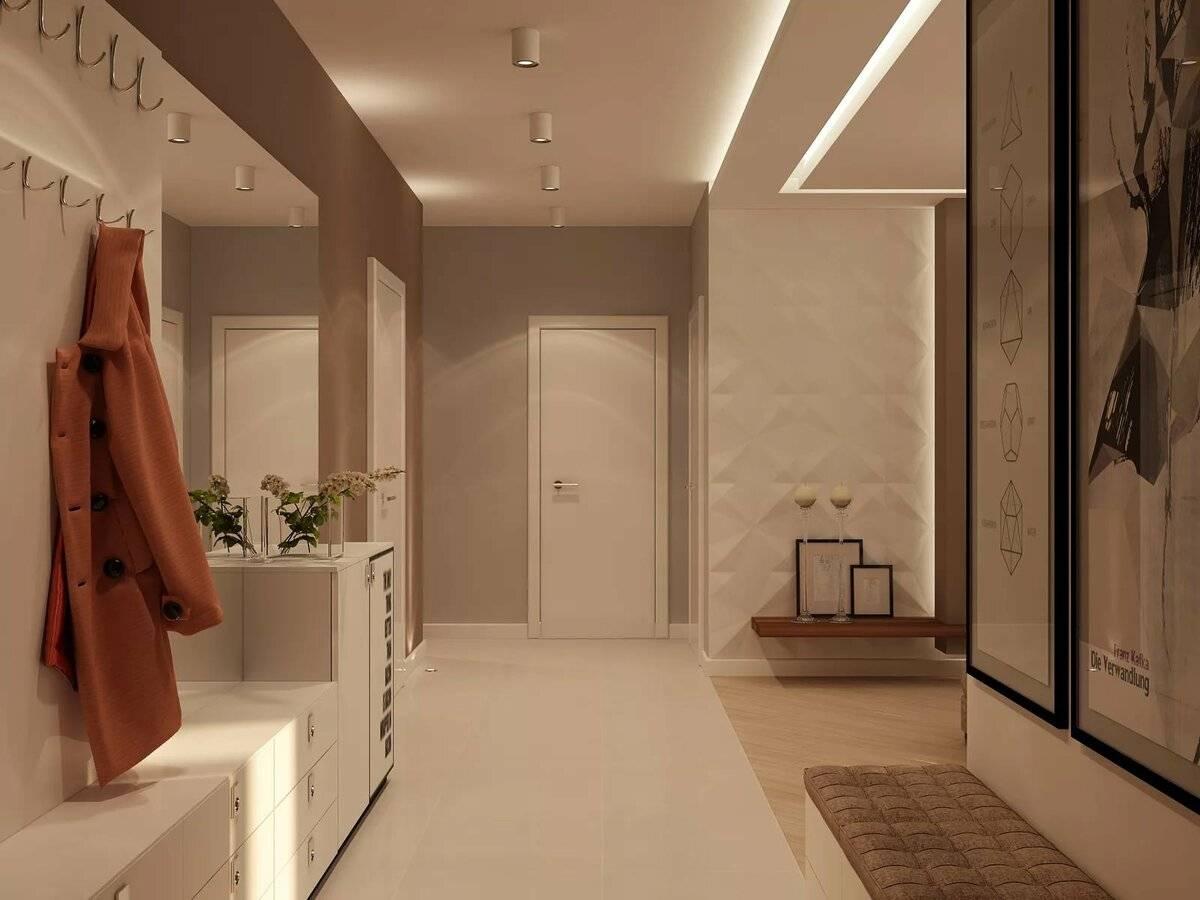 Дизайн коридора, оформление прихожей - фото примеров