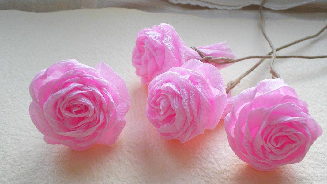 Создаем красивые цветы из бумаги