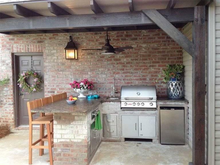 Летняя кухня своими руками: пошаговый процесс строительства
