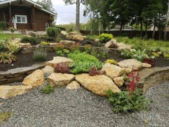 Как выбрать камни для ландшафтного дизайна. полезные советы. фото