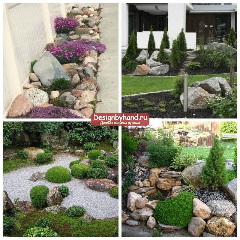 Декоративные камни для ландшафтного дизайна: валуны, галька на даче, фото