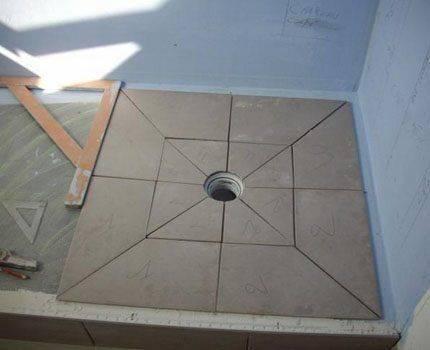 Трап для душа в полу под плитку: установка с сухим затвором