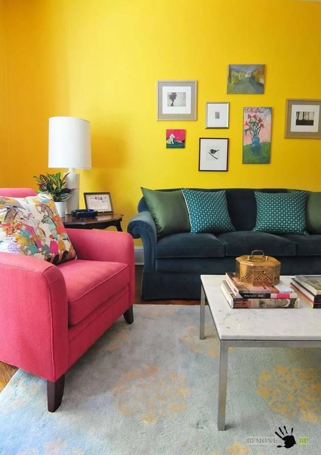 Сочетание цветов в интерьере c фото примерами - archidea.com.ua