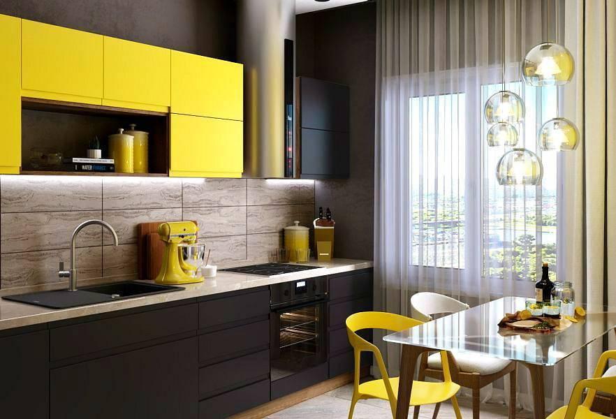 Желтые стены на кухне (34 фото): обои желтого и лимонного цвета в интерьере. варианты дизайна и сочетаний