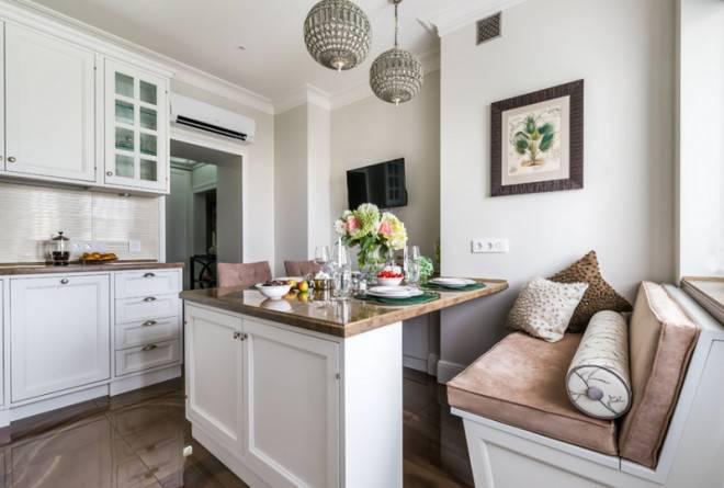 Кухня с диваном на 12 кв м (25 реальных фото): планировка, расстановка мебели, телевизора