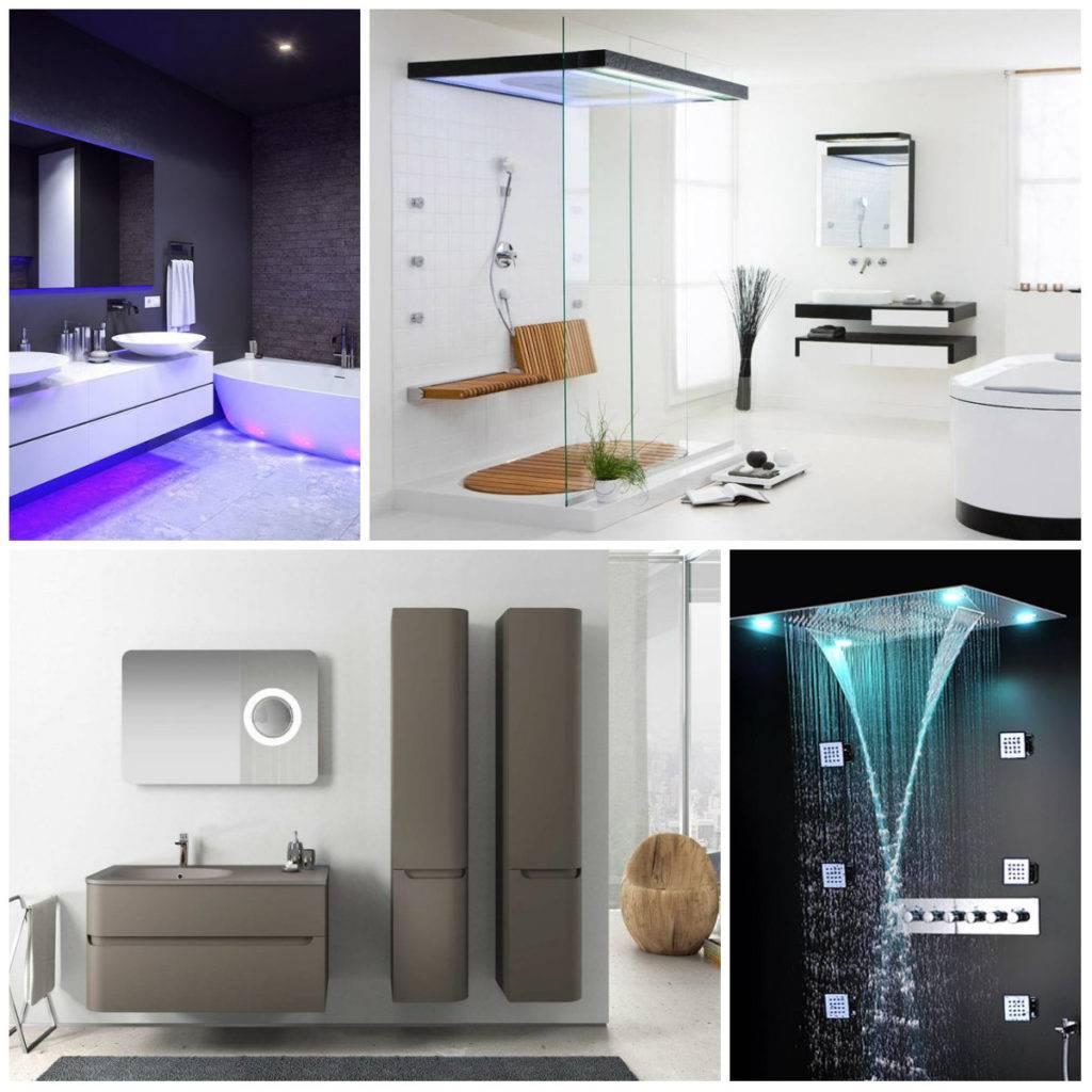 Ванная комната в различных стилях (94 фото): хай-тек и ретро, восточный дизайн и модерн, цвета в интерьерах шале, кантри и эко