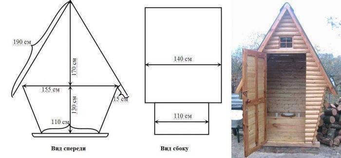 Идея для туалета на даче: 100 фото, чертежи, схемы, инструкции   избранное