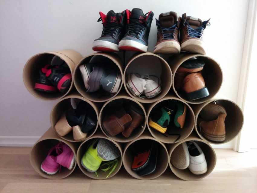 Полка для обуви: изготовление своими руками из картона, фанеры или дсп (с изображениями)