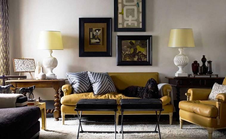 Желтый цвет в интерьере выглядит необычно и дерзко, смотрите сами 150 фото яркого дизайна