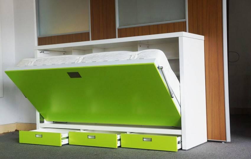 Кровать-шкаф (57 фото): откидная, встроенная икеа, складные транформеры в стене, с подъемным механизмом, видео