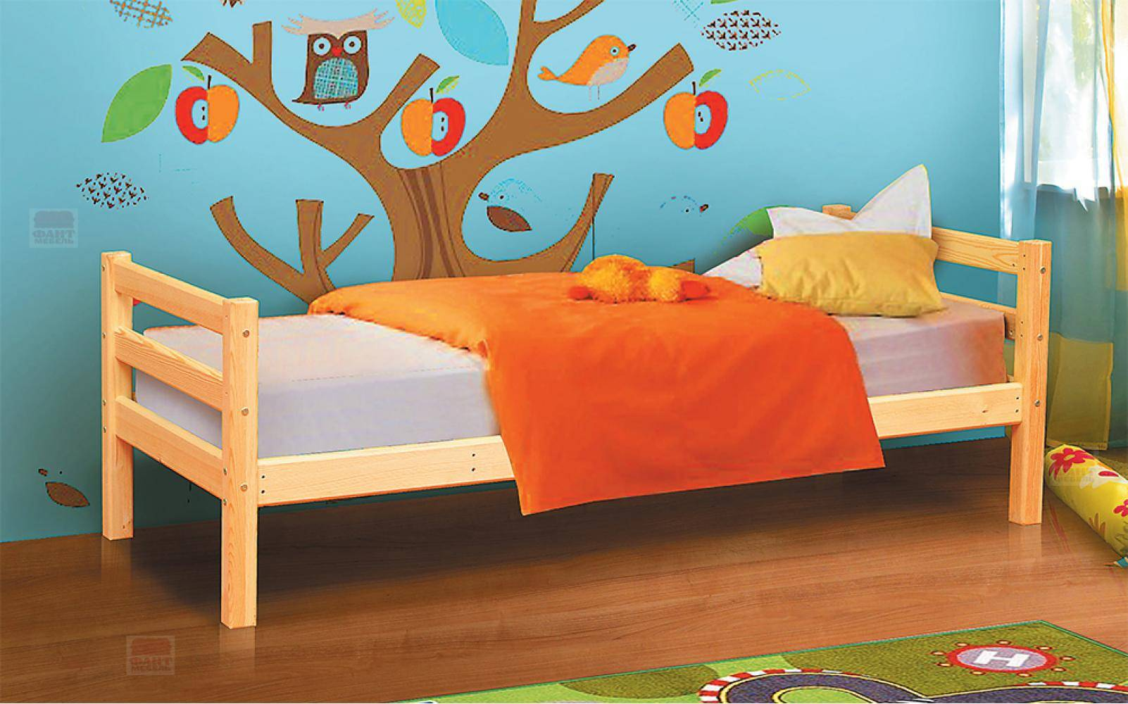Детская мебель из массива дерева, двухъярусная качественная кровать из натурального дерева для детской