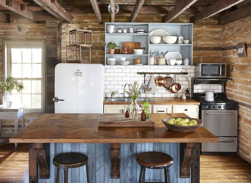 Дизайн кухни в стиле кантри (+55 фото) – идеи интерьеров - стильный и современный дизайн интерьера для вас