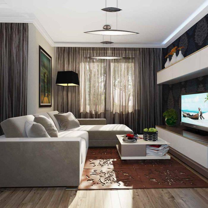 Гостиная 12 кв. м: дизайн, реальные фото небольшой комнаты в современном стиле, интерьер