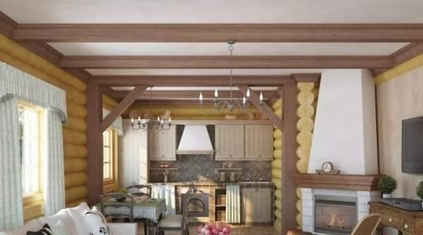 Дизайн кухни в деревянном доме: 75 фото, советы, особенности