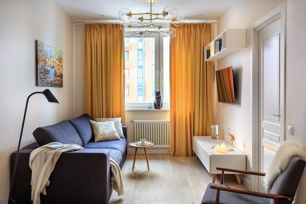 Дизайн маленькой комнаты 12 кв. м: правила обустройства с диваном и мебелью