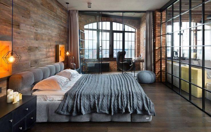 Лофт в современной спальне