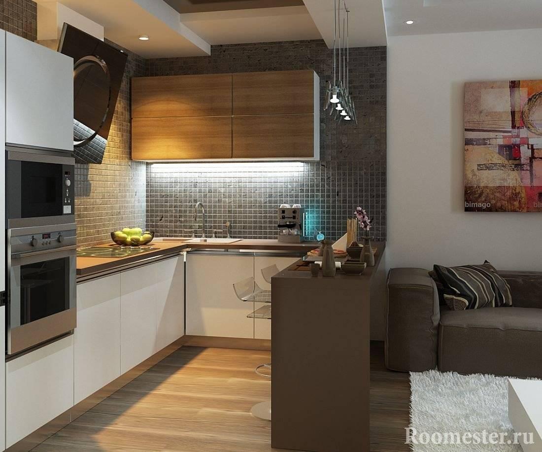 Дизайн кухни 10 метров кв.: с окном, балконом, диваном, холодильником