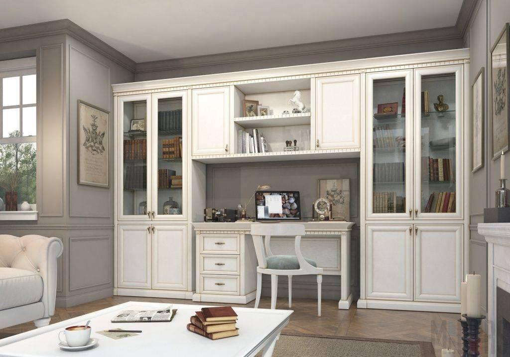 Белая мебель для гостиной, виды оттенков и правила сочетания