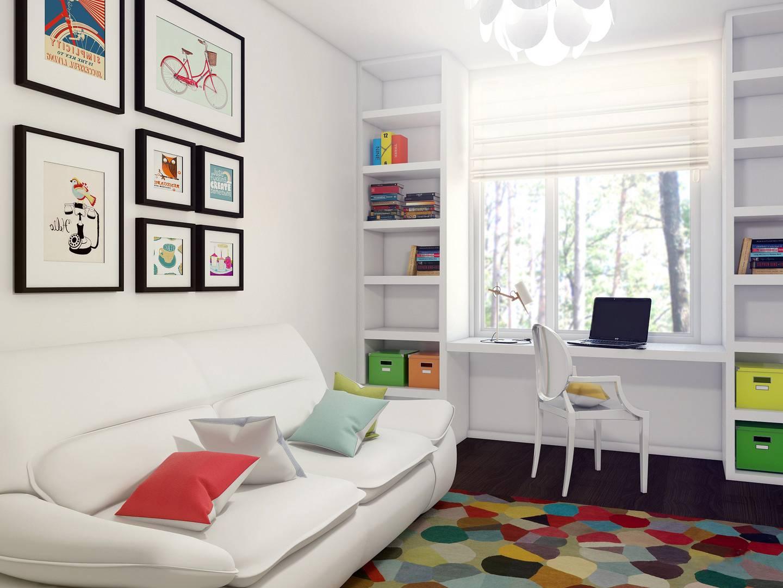Оформление детской комнаты с белой мебелью в интерьере