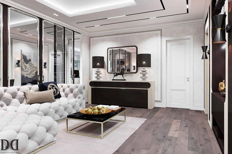 Дизайн стен в гостиной: современные идеи оформления