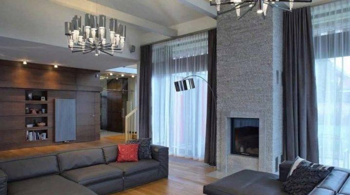 Комбинированные шторы - 100 фото красивого дизайна с шторами 2-х цветов