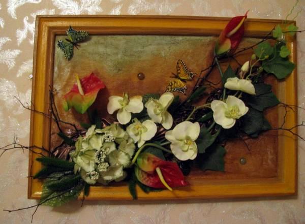 Бонсай топиарий ёлка картина панно рисунок флористика моделирование конструирование поделки из сухоцветов материал природный