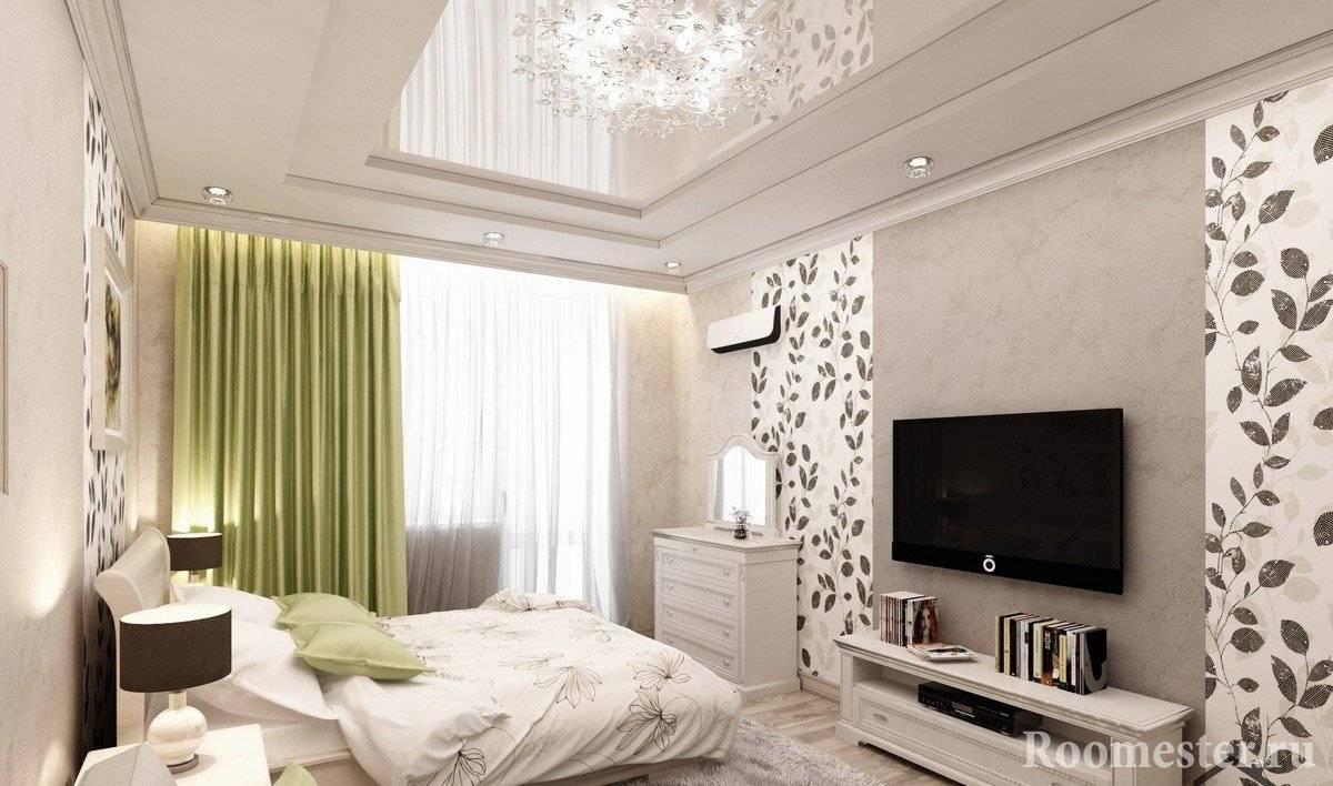 Дизайн спальни  площадью 14 кв. м