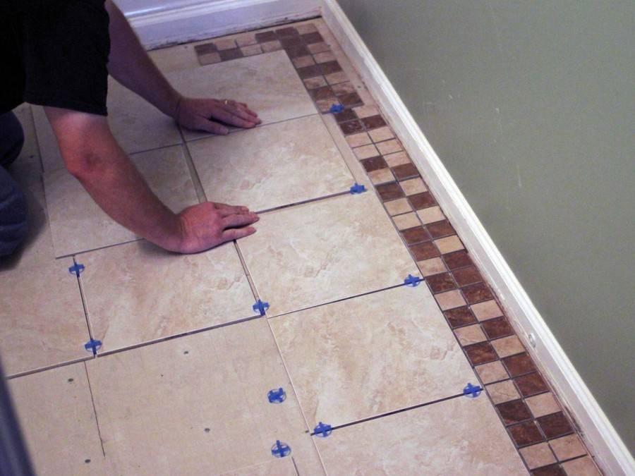 Раскладка плитки в ванной - схемы и варианты