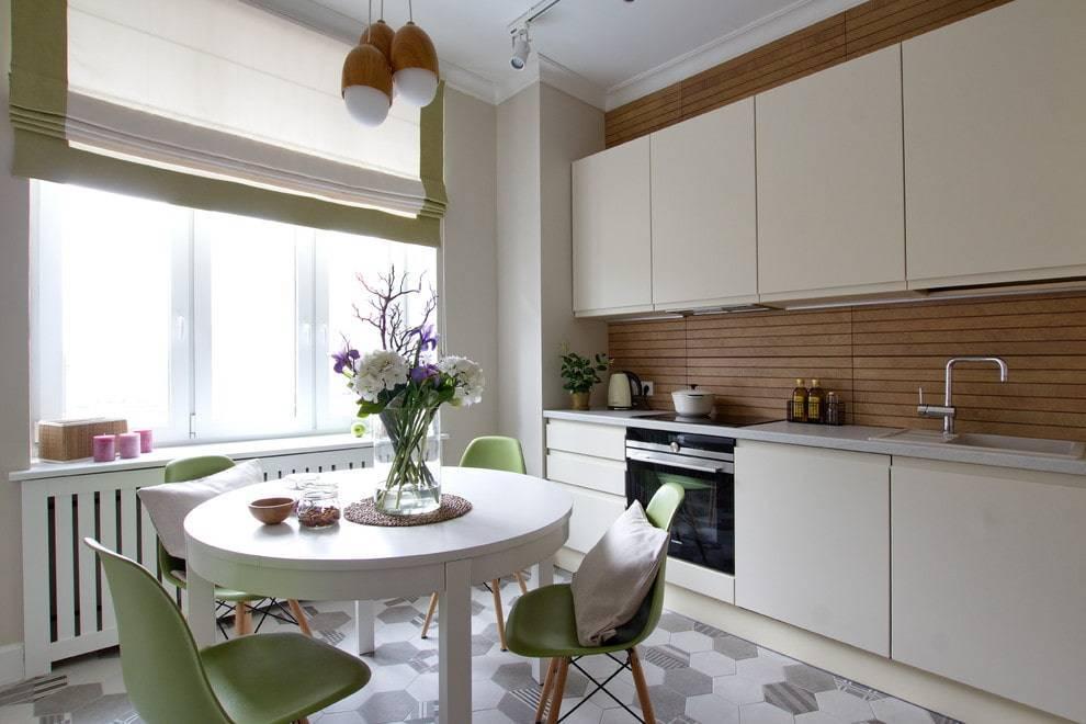Круглые столы на кухню: виды, размеры и примеры в интерьере