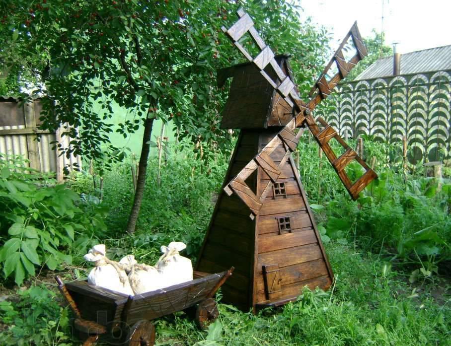 Декоративная ветряная мельница для сада своими руками: 52 фото креативных примеров украшения